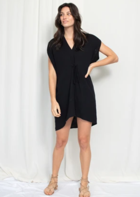 Natalie Busby Cascade Mini Dress - Black