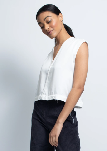 Natalie Busby Triangle Top - White
