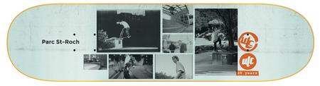 """ULC Parc St-Roch 8"""" skateboard"""