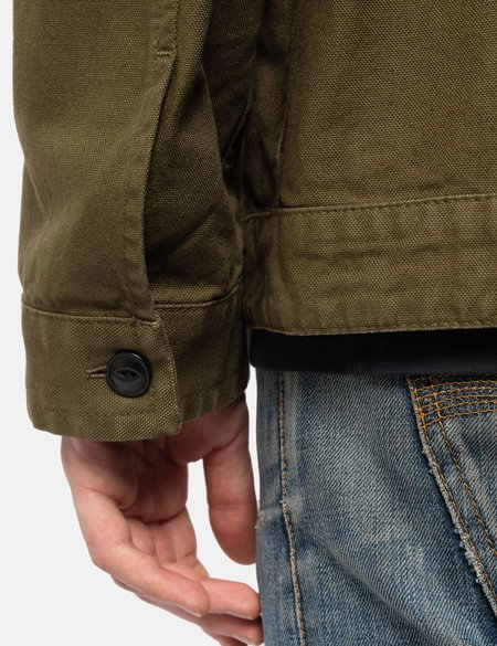 Nudie Jeans Colin Canvas Overshirt - Army Green