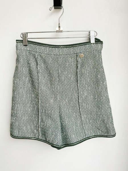 [Pre-loved] Chanel Knit High Waist Shorts - Green