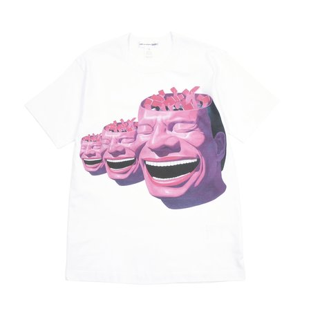 Comme Des Garcons Yue Minjun Short Sleeve T-shirt - White/Print F