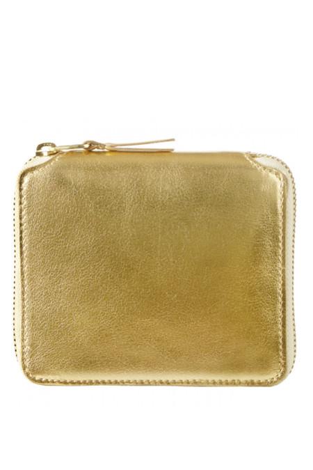 Comme des Garçons Leather SA-2100G Zip Wallet - Gold