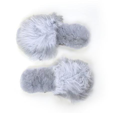 Ariana Bohling Suri Alpaca Slipper - Grey
