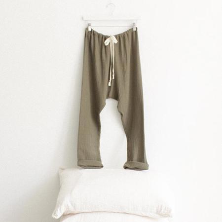 ADVICE Article Three Drawstring Pants - Moss Green