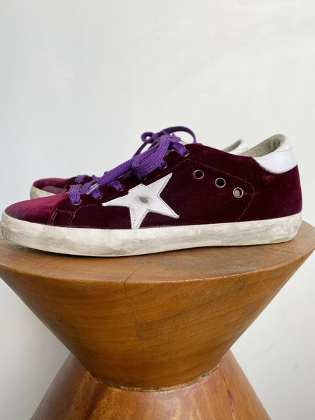 [Pre-loved] Golden Goose Superstar Velvet Low Top Sneaker