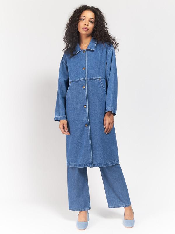 Unisex 69 Simple Coat Blue