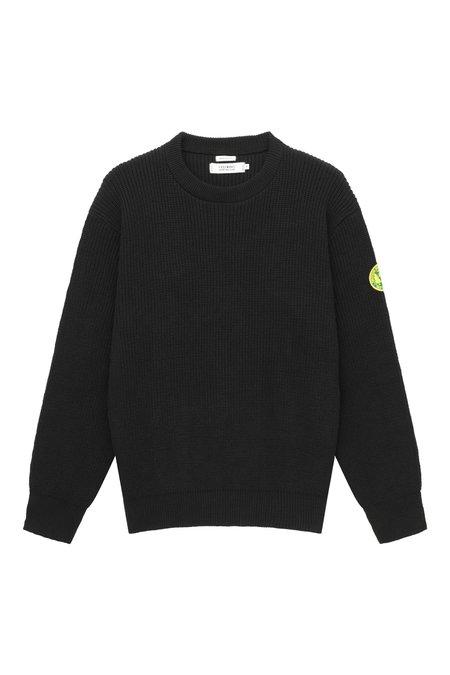 Freemans Sporting Club Plain Front Crewneck Sweater - Black