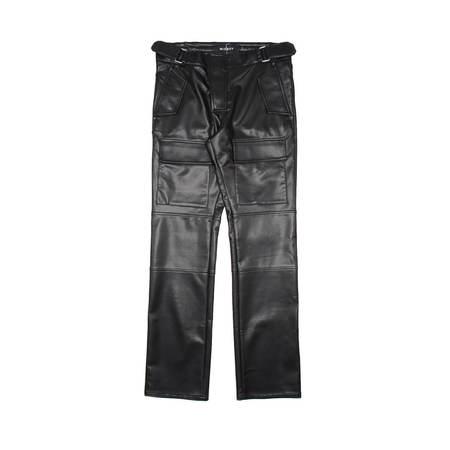 MISBHV Vegan leather moto pants - Black