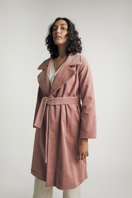 BEFORE MARCH Classic Trench - Powder Pink