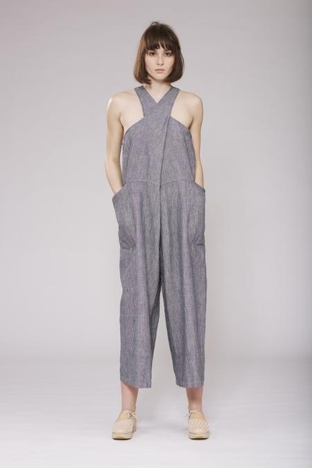 Study NY Linen Tank Suit - Grey Stripe