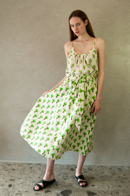 Aish Loulou Skirt - Green Marigold