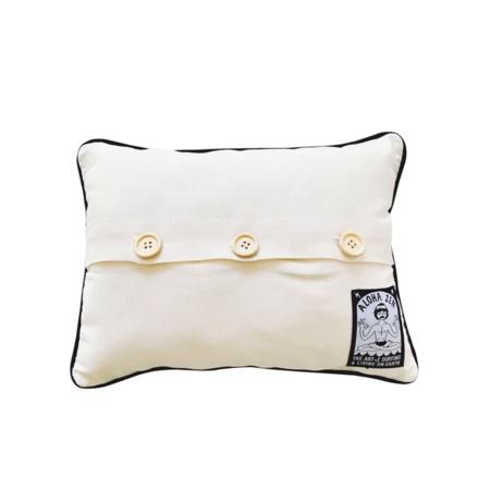 Aloha Zen Aloha Needlepoint Pillow - White/Multi