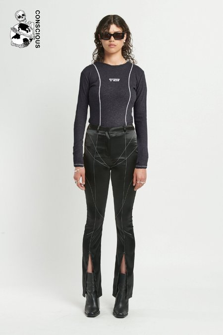 STOLEN GIRLFRIENDS CLUB Softly Sculpted Top - BLACK
