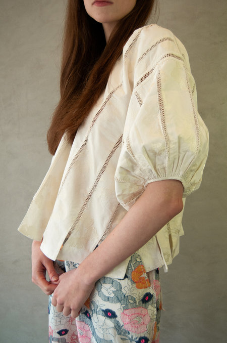 Untitled.CO Avi Panneled Top - Off White