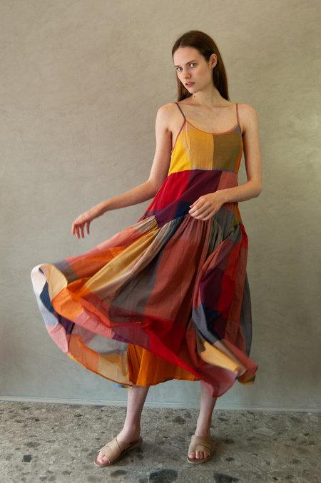 RUJUTA SHETH Leila Slip Dress - Multi Check