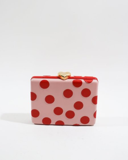 [Pre-loved] BUTRICH The Rumba Box Clutch - Red/Pink