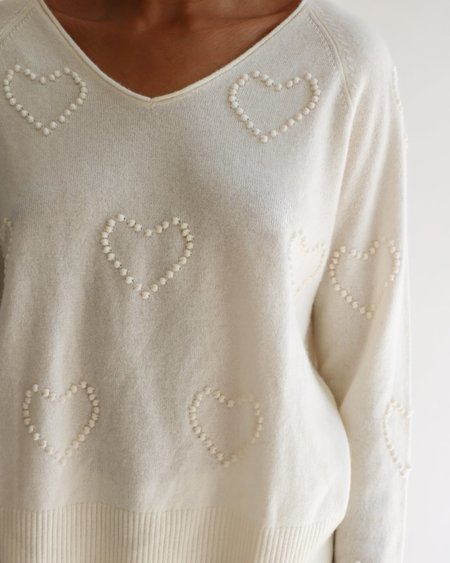 [Pre-loved] Estheme Cachmere The Heart Crop Sweater
