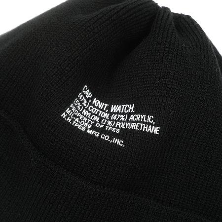N.HOOLYWOOD KNIT WATCH CAP - BLACK
