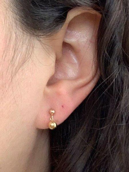 HighLow Orb Earrings - Gold
