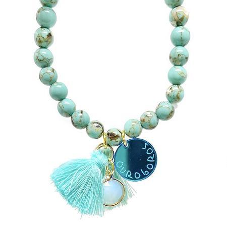 Atsuyo Et Akiko Ouroboros Star Bracelet - Blue
