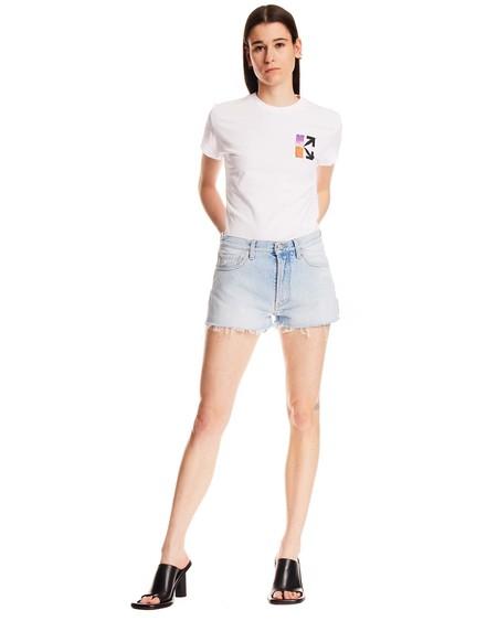 Off-White Fringes Shorts - blue