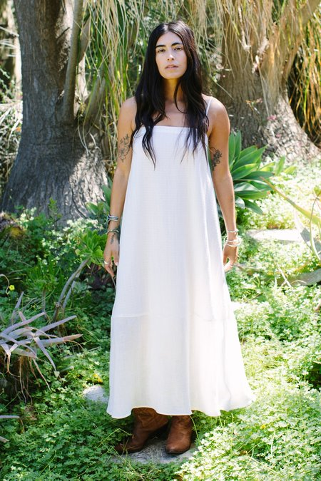 Rachel Pally Linen Mira Dress - Cloud Check