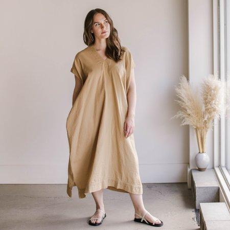 Atelier Delphine Long Crescent Dress - Dune