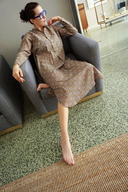 MOISMONT LONG TUNIC DRESS - OCRE