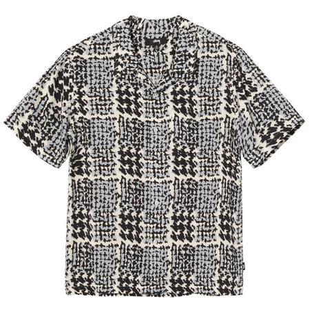 Stussy Hand Drawn Houndstooth Shirt - Off White