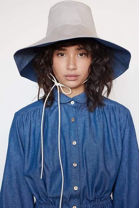 Christine Alcalay Cotton Twill Reversible Sun Hat