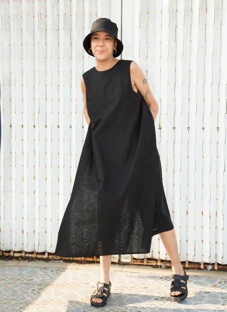 KAAREM Canna Front Layered Pocket Onesie jumpsuit - Black Linen