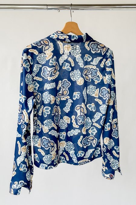 Vintage Blouse - Abstract Flower Print