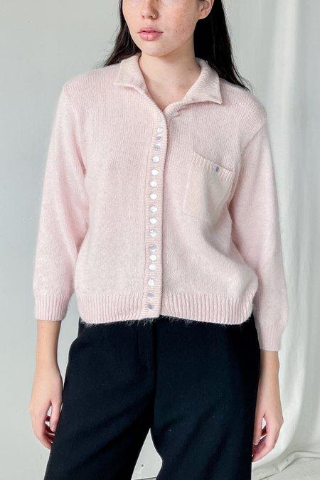 Vintage Silk Angora Sweater - Baby Pink