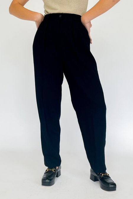 Vintage High Rise Trousers - Black