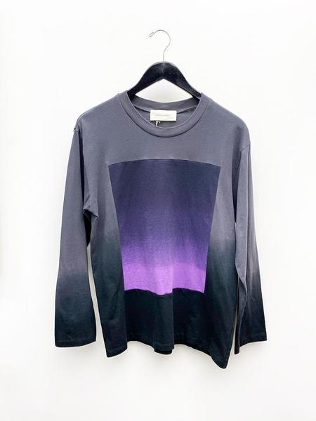 Unisex Correll Correll Sun and Moon Square Longsleeve Shirt - Purple Slate