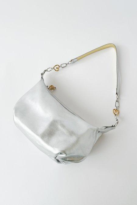 Vintage Metallic Mini Purse - Silver