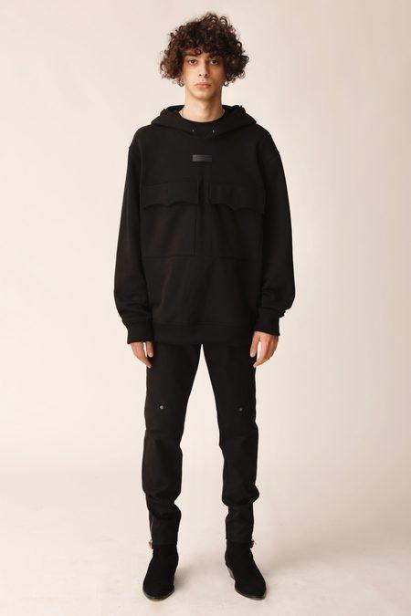 Plus Que Ma Vie POCKET HOODIE sweater - BLACK