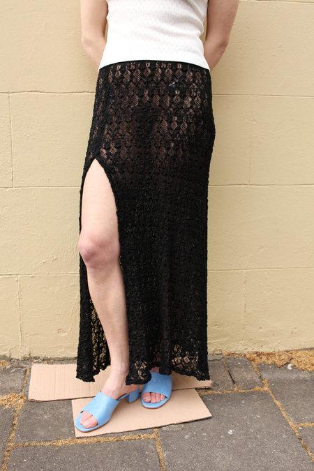 MARYAM NASSIR ZADEH Lace Vivacity Skirt - Black