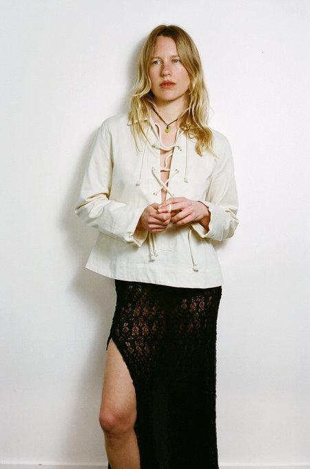 BASERANGE Bayou Shirt - Ecru