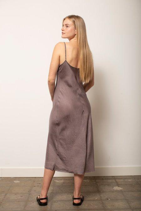 Organic John Patrick Long Bias Slip dress - Dust