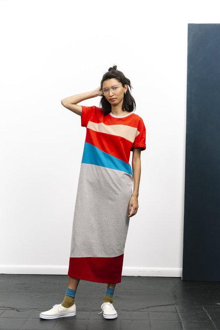 Carleen String-pieced T-shirt Dress - Multi