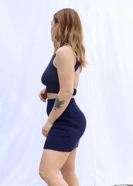 Paloma Wool Kadabra Knit Skirt - Navy