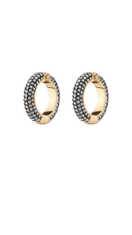 Demarson Lili Pave Crystal Cuff earrings - Gold/Crystal/Hematite