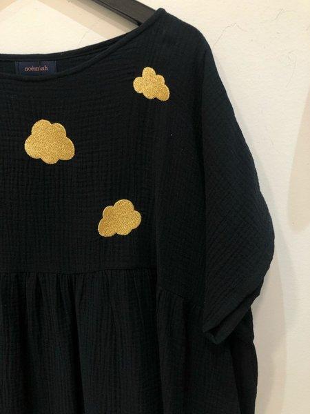Noemiah Robe Cecilia - Coton Mince Noire Nuages