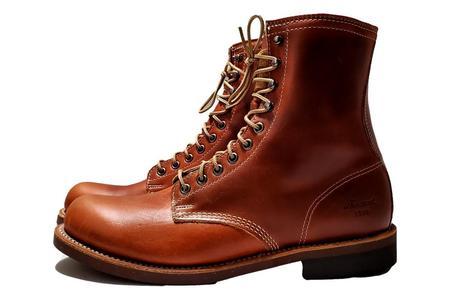 Tomahawk Plain Toe Boots - Cognac