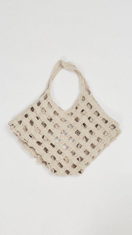 Lauren Manoogian Crochet Grid Bag - Natural