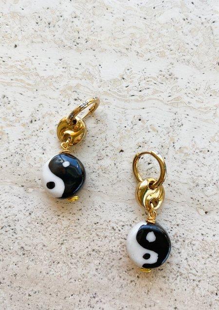Notte Jewelry Yin Yang Earrings