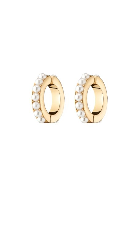 Demarson Lili Pearl Earring Cuffs - Gold/Pearl