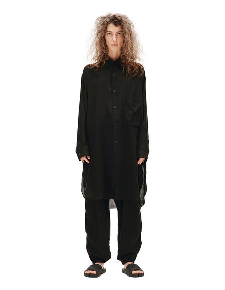 Yohji Yamamoto Elongated Shirt With Pocket - Black